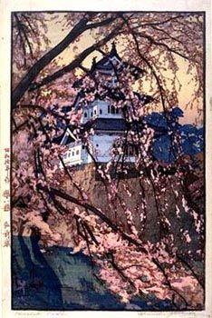 Hirosaki Castle  by Hiroshi Yoshida, 1935