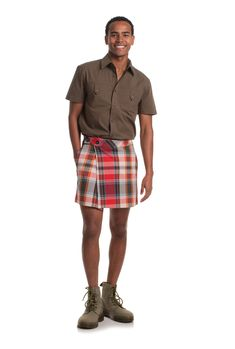 ELTON KILT SKIRT - Trina Turk Really good looking mini length skirt on a male. Formal enough to replace a suit but casual enough for every day wear. Impressive! This works!!!