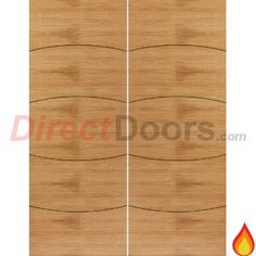 JB Kind Elements Sol Flush Oak Veneered Fire Door Pair, Pre-finished, 30 Minute Fire Rated  #firedoors #directdoors