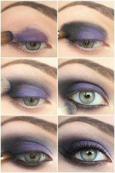 Purple and black smokey