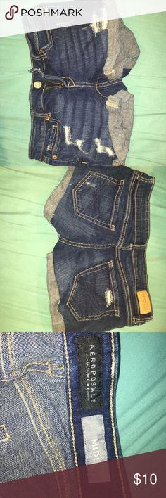Aero Jean Shorts Ripped Aero Jean Shorts Aeropostale Shorts Jean Shorts