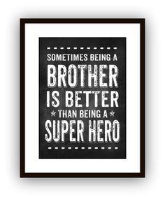 Big Brother Super Hero Wall Art - $16.00