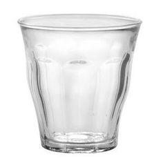 Lot de 4 gobelets Picardie en verre - 22 cl - Blanc transparent