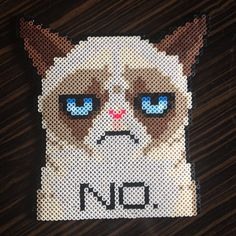 I would actually be very proud of myself if I successfully made grumpy cat perler bead art