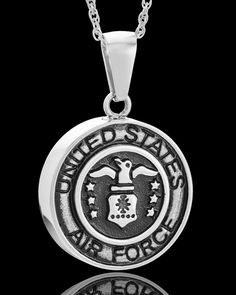 stainless military medallion-air force memorial urn pendant