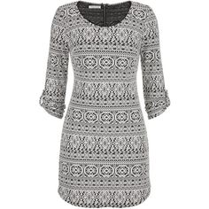 maurices Sweatshirt Dress In Ethnic Print ($29) ❤ liked on Polyvore featuring beige and maurices