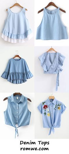 Girls Fashion Clothes, Teen Fashion Outfits, Mode Outfits, Denim Fashion, Girl Outfits, Fashion Dresses, Crop Top Outfits, Cute Casual Outfits, Stylish Outfits
