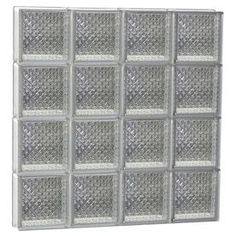 Redi2set Diamond Glass Pattern Frameless Replacement Glass Block Window (Rough Opening: 34-In X 30-In; Actual: 32.75-In