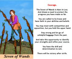 SEVEN OF WANDS #tarotcardmeaning