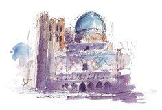 Samakand, Uzbekistan. Watercolours by Ole Sondergaard