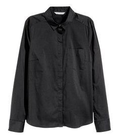 Stretch Shirt   Black   Ladies   H&M US
