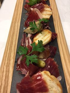 Brand new dish at the Champagne Bar in Selfridges Trafford: Hand carved Domecq Jamon Iberico Bellota, 36 month