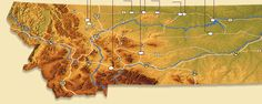 Overview map for the Montana Dinosaur Trail. What a dream vacation for the dinosaur-loving kid!