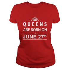 June 27 Shirts Queens are Born on June 27 T-Shirt 06/27 Birthday June 27 ladies tees Hoodie Vneck Shirt for Girl and women #gift #ideas #Popular #Everything #Videos #Shop #Animals #pets #Architecture #Art #Cars #motorcycles #Celebrities #DIY #crafts #Design #Education #Entertainment #Food #drink #Gardening #Geek #Hair #beauty #Health #fitness #History #Holidays #events #Home decor #Humor #Illustrations #posters #Kids #parenting #Men #Outdoors #Photography #Products #Quotes #Science #nature…