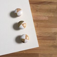 Snowdrop - Hand painted white, gold and wood colourful geometric door knobs handles - sustainable gifts + homewares Farrow Ball, Knobs And Handles, Wooden Handles, Annie Sloan, Paint Door Knobs, Gold Door, Cupboard Knobs, Thing 1, Sustainable Gifts