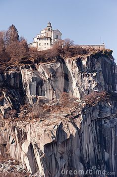 """Madonna del Sasso Church built on a rock at Lake Orta, Italy is a pilgramage site and a """"dream wedding"""" spot by Piero Cruciatti on Dreamstime"""