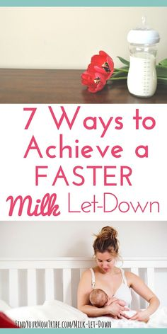 Milk not coming out when pumping? Baby fussy at the breast because your milk won't let-down? Here are 7 tricks to achieve a faster let-down so you can express more milk! Breastfeeding tips | Pumping tips | Milk let down | Breast pumping | Pump more breastmilk #breastfeeding #lactation