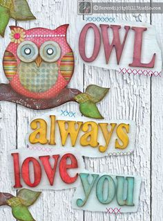 2D 11x14 print on WOOD owl always love you by SerendipityHillShop, $45.00
