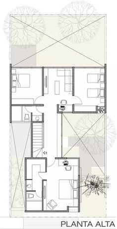 Floor plans House Layout Plans, Floor Plan Layout, House Layouts, Narrow House Plans, Modern House Plans, House Floor Plans, Minimal House Design, Architectural Floor Plans, Apartment Plans