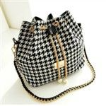 Casual PU Plaids & Checks Chain Cool Style Star-magazine-style Women's Bags DTH-274298