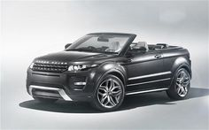 """""""The world's first premium convertible SUV"""" is how Land Rover describes its Evoque Convertible concept car, which will make its debut at the Geneva motor show. Love! Most probably cost more than my home is worth:)"""