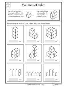5th Grade Math Volume Worksheets   Kids Study   volume   Pinterest ...