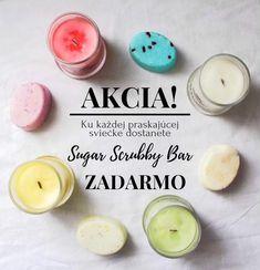 AKCIA! ♥️ Ak nakúpite akúkoľvek praskajúcu sviečku, do balíčka vám ZADARMO pribalíme obľúbený Sugar Scrubby Bar! 😍 Akcia platí od dnes do nedeľe 23.9 🔥