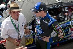 Ricky Stenhouse Jr. and Jack Roush at Indianapolis Motor Speedway for the first NASCAR Nationwide Series race.