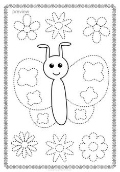 Butterflies Trace and Color Pages {Fine Motor Skills + Pre-writing} Printable Flower Coloring Pages, Preschool Coloring Pages, Coloring For Kids, Coloring Rocks, Preschool Writing, Preschool Lessons, Kindergarten Worksheets, Spring Activities, Activities For Kids