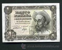 ESPAÑA 1 PESETA DE 1951 SERIE N ( DON QUIJOTE DE LA MANCHA ) (Numismática - Notafilia - Billetes Españoles)