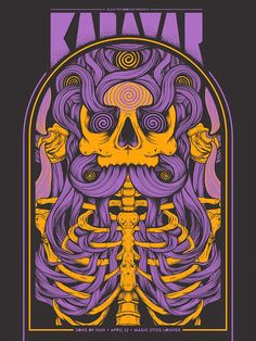 Kadavar Detroit Poster by Jason Abraham Smith (via Inside the Rock Poster Frame)