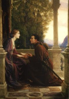 """""""The End of the Quest"""" (1921) by Sir Francis Bernard Dicksee (1853- 1928)."""