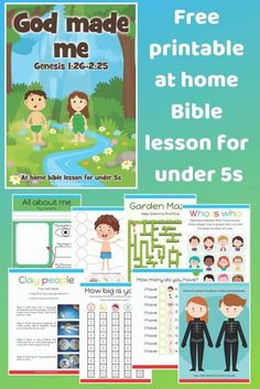 Free printable at home Bible lesson for under Videos, worksheets, coloring pages, crafts and more is part of Preschool bible lessons - Preschool Bible Activities, Preschool Curriculum, Rainbow Activities, Kindergarten, Bible College, Toddler Bible Lessons, Bible Study For Kids, Kids Bible, Bible Bible