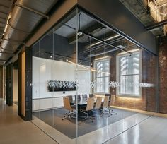 Explore environmental graphics & wayfinding for Bloomberg San Francisco Tech Hub by Volume Inc. Industrial Office Design, Office Space Design, Modern Office Design, Workplace Design, Office Interior Design, Corporate Design, Office Interiors, Corporate Offices, Contemporary Office
