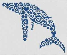 Tribal Humpback Whale - Cross Stitch Pattern by White Willow Stitching - a must!