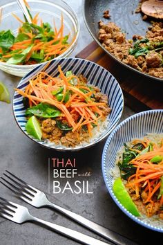 Thai Beef with Basil @FoodBlogs