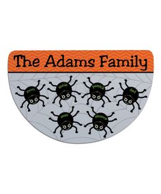 Personalized Planet Spider Web Personalized Six-Name Round Indoor/Outdoor Doormat | zulily
