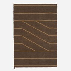 Lot 112: Trine Ellitsgaard. flatweave carpet. 1976, hand woven wool. 53 w x 78 h in. result: $1,920. estimate: $3,000–5,000. Signed and dated to reverse: [Trine Ellitsgaard November 76]. Sold with original artist's drawing.