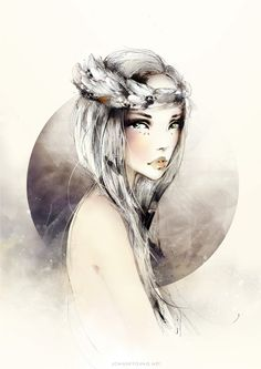 valkyrie by *joanneyoung. I like the concept of a less ostentatious headpiece.
