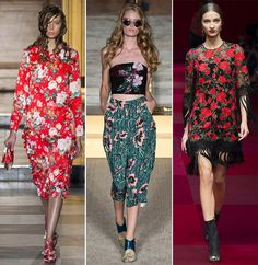Spring/ Summer 2015 Fashion Trends: Floral Prints|www.fashionisers.com #2015fashiontrends