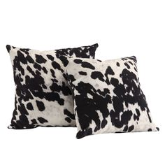 $49 - Mercer41 Oliver Cow Hide Print Decorative Throw Pillow