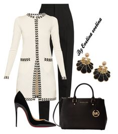 A fashion look from November 2017 by evelina-er featuring Diane Von Furstenberg, Yves Saint Laurent, Christian Louboutin and Michael Kors Classy Outfits, Chic Outfits, Fashion Outfits, Womens Fashion, Fashion Trends, Modest Fashion, Business Outfits, Business Fashion, How To Have Style