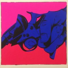 Great artwork by @tenderj #drawing #painting #blue #pink #mural #wallart #sprayart #spraypaint #arteurbano #streetart #revolver #gun #graphicdesign #contemporaryart #design #graffiti #awesome