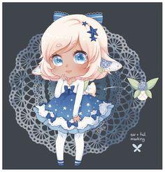 Rare Night-Bloomy [Closed] by CottonPuffAdopties on DeviantArt Pretty And Cute, Pretty Art, Character Art, Character Design, Black Girls Rock, Kawaii Art, Anime Outfits, Anime Chibi, Cute Drawings