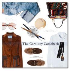 """The Corduroy Comeback ... Fall 2017"" by greta-martin ❤ liked on Polyvore featuring Gucci, Closed, Prada, Fendi, tarte, Estée Lauder, Smashbox, Marni, jeans and blazers"