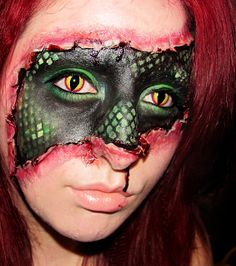 Makeup by a 20-Something: Lizard Within - Special Effects Makeup & Contacts