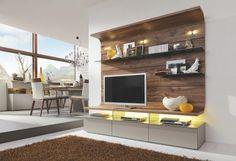Hochwertige Wohnwand von MODERANO - Eleganz mit weißem Akzent!
