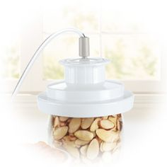 Foodsaver attachment that vacuum seals wide mouth mason jars to make up salads in a jar...it keeps them fresh for days longer then other storage methods!!