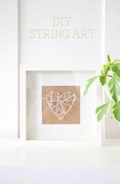 boxwood clippings_diy string art