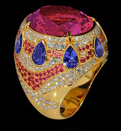 Mousson Atelier Ladya Collection Gold Tourmaline Ring R0045-0/4